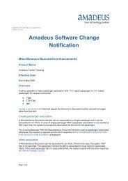 Amadeus Software Change Notification