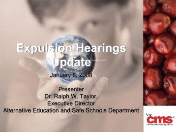 Expulsion Hearings Update Expulsion Hearings Update - News 14