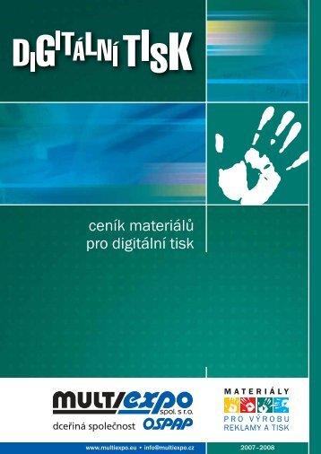 ceník materiálů pro digitální tisk - Prodes