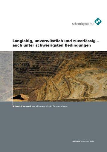 Kompetenz in der Bergbauindustrie - Schenck Process GmbH
