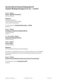 Programm Wartberger Kulturtage von 22. Juni – 1. Juli 2012