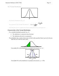 The Normal Distribution Characteristics of the Normal Distribution