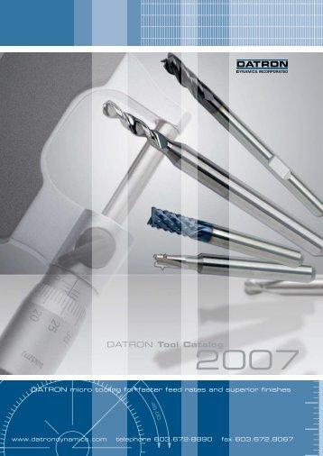 DATRON Tool Catalog - Datron Dynamics Inc.