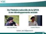 De l'Histoire Naturelle de la QPCR A Ses Développement ... - GeT