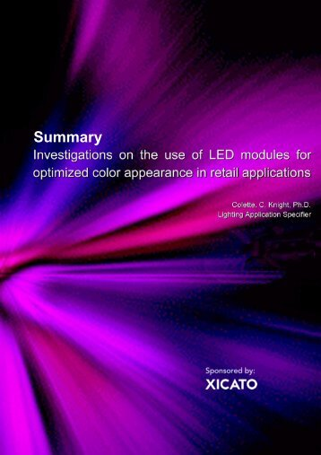 Summary research report on vibrancy and color preference - Xicato
