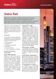 Sabre Rail - Sabre Travel Network