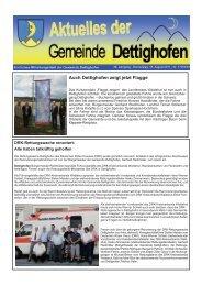 Auch Dettighofen zeigt jetzt Flagge - Gemeinde Dettighofen