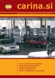 Åtevilka 14, februar 2009 - Carinska uprava Republike Slovenije