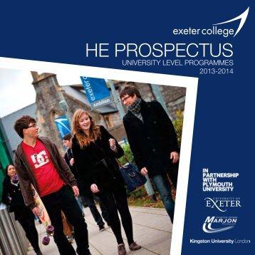 HE PROSPECTUS - Study in the UK