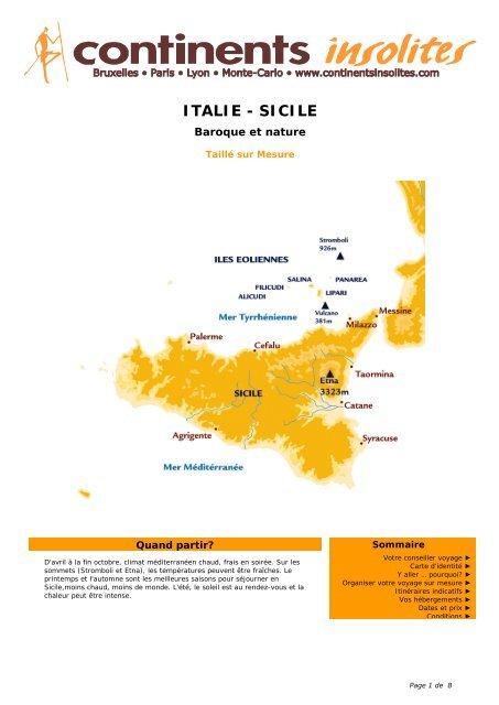 ITALIE - SICILE - Continents Insolites