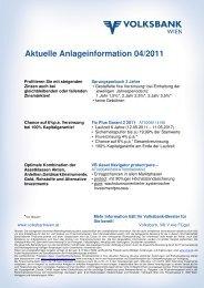 Aktuelle Anlageinformation 04/2011 - Volksbank Wien AG