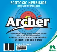 Archer 20L Label - Nufarm