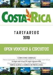 Costa Rica Circuitos   Tarifas