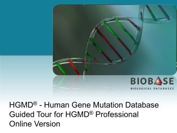 Getting Started Guide: Online Version 2012.4 - BIOBASE Biological ...