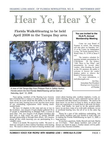 September Newsletter - Hearing Loss Association of Florida