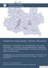 Wohnen im Wandel im deutschen Teil der EUREGIO