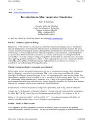 Introduction to Macromolecular Simulation