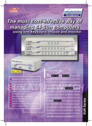 Sun + PS/2 The SNV104 and SNV108 , 4-port and 8 - Rextron ...
