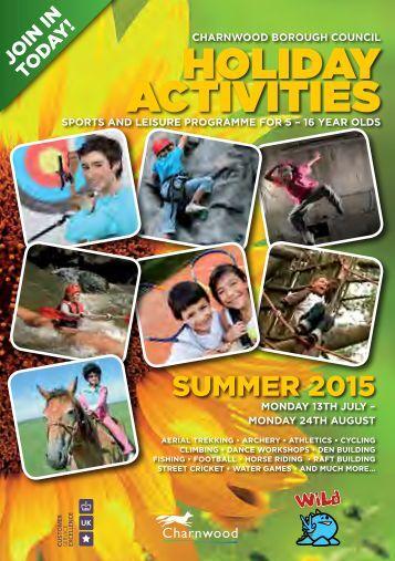 Summer Activities Brochure 2015 New