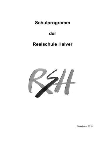 Fassung des Schulprogramms 2010-2011 - Realschule Halver