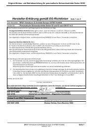 Hersteller-Erklärung gemäß EG-Richtlinien Seite 1 ... - Bray Controls