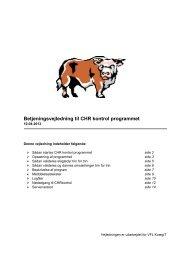 Betjeningsvejledning til CHR kontrol programmet - DLBR IT