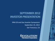 MM - Evolution Petroleum Corporation