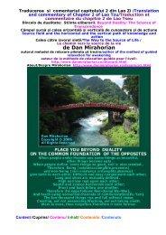 Traducerea si comentariul capitolului 2 din Lao Zi - Mirahorian