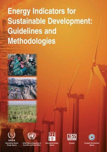 Energy Indicators for Sustainable Development - Publications - IAEA