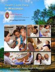 2011–2012 Annual Report - UW Family Medicine