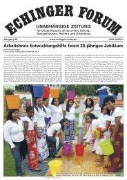 Arbeitskreis Entwicklungshilfe feiert 25-jähriges Jubiläum ...