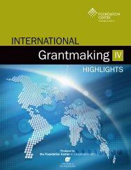 International Grantmaking IV - Highlights - Foundation Center