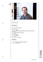 PETER JECKLIN - DIVINA – Agentur für Schauspielkunst