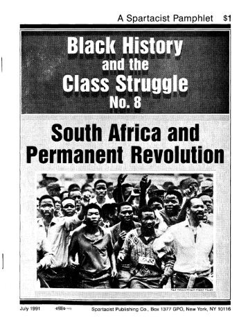 South African and Permanent Revolution