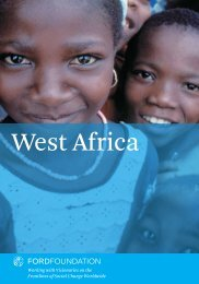 West Africa - Ford Foundation
