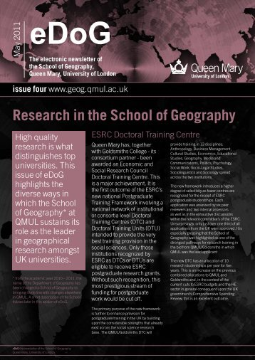 eDoG newsletter 4 - Geography - Queen Mary, University of London
