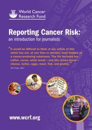 Reporting Cancer Risk PDF - World Cancer Research Fund