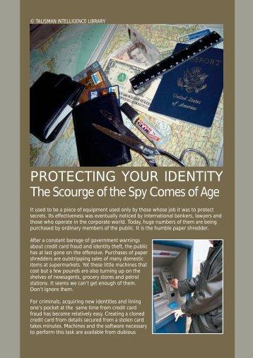 PROTECTING YOUR IDENTITY - Eye Spy Intelligence Magazine