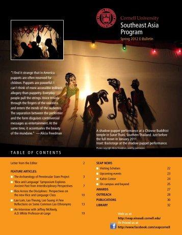 Download the full bulletin - Southeast Asia Program - Cornell ...