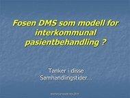 Jensvold M, Seim A. Prehospital bruk av ... - NSDM
