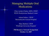 2007 Symposium Oral therapies - PHA Online University