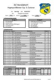 D-Junioren vom 05.Februar 2012 - SC Heroldstatt