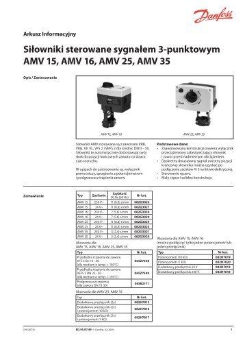AMV 15, 16, 25, 35 - Danfoss
