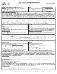 ImmTrac Site Registration Instructions - Brazoria County