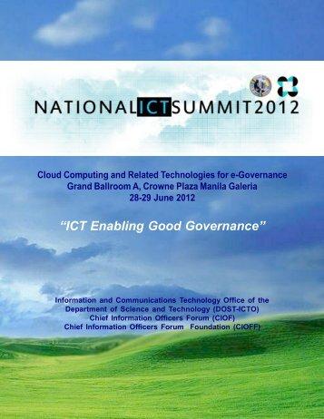 """""""ICT Enabling Good Governance"""""""