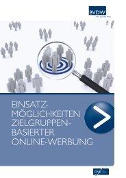 einsatz- möglichkeiten zielgruppen- basierter online-werbung