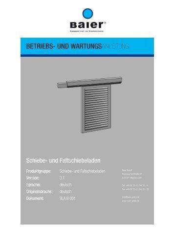 Bedienungs- und Wartungsanleitung - Baier GmbH