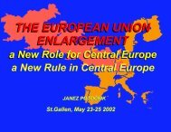 THE EUROPEAN UNION ENLARGEMENT