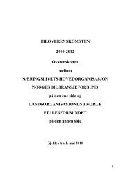 BILOVERENSKOMSTEN 2010-2012 ... - Fellesforbundet