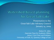 Watershed-based planning for Great Salt Lake